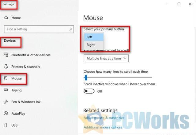 如何修复逆转的Windows鼠标按钮
