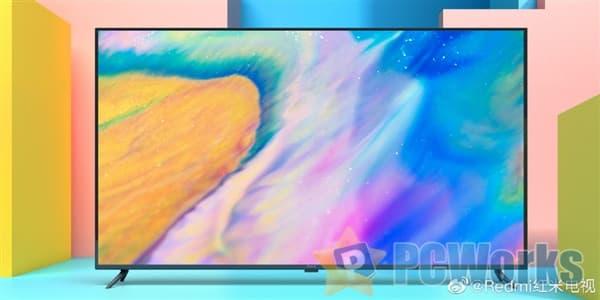 Redmi红米电视首露真容:70英寸极窄边、超高屏占比