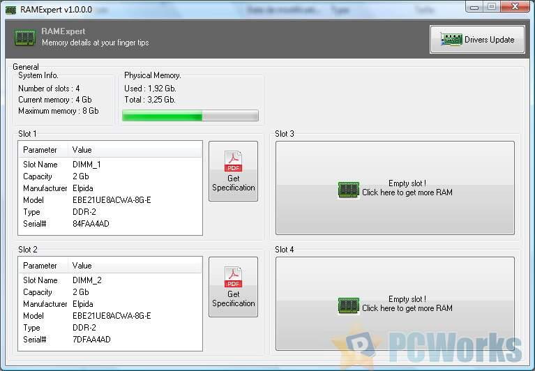 RAMExpert 1.11.0.28 – 免费的内存型号查看工具