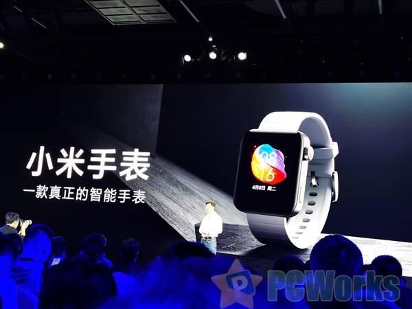 小米手表正式发布:支持eSIM独立通话 搭载MIUI for Watch