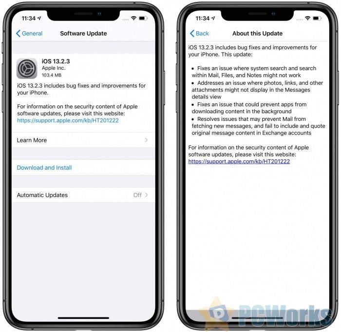 苹果发布iOS 13.2.3更新:继续修复Bug