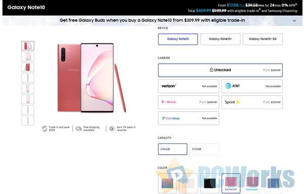 三星Galaxy Note 10新增粉色/红色两种配色:颜值感受下