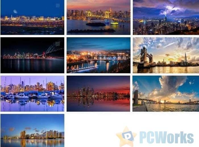 [图]感受城市灯光的魅力:微软放出Panoramic Cityscapes免费壁纸包