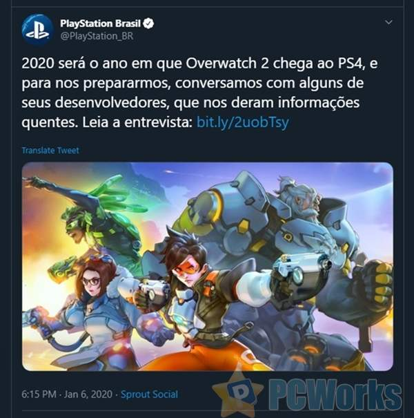 索尼PlayStation官方账号偷跑《守望先锋2》:年底前登陆