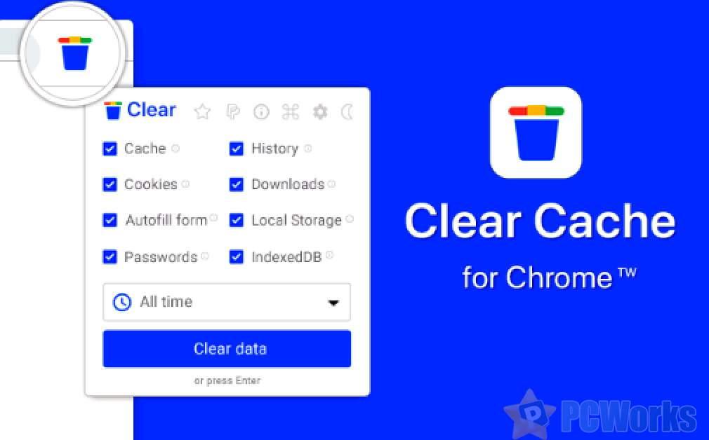 Clear Cache for Chrome – Chrome缓存清除插件