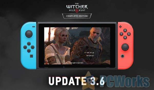 Switch版《巫师3》版本更新:可与PC存档互通 支持抗锯齿