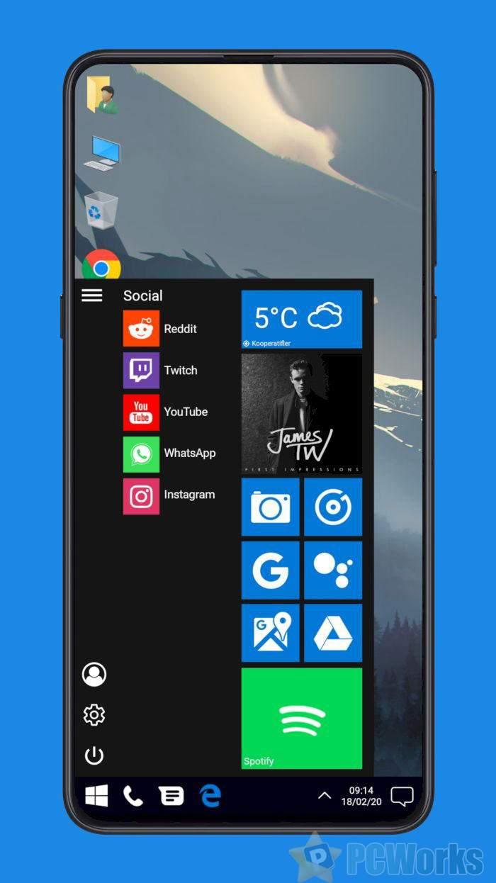 [图]这不是微软移动系统:达人在Android上打造Windows 10主题