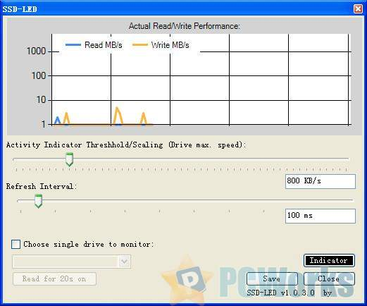 SSD-LED – 开源免费的硬盘指示灯显示工具