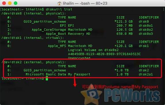 Mac OSX / MacOS 打开原生自带NTFS读写功能