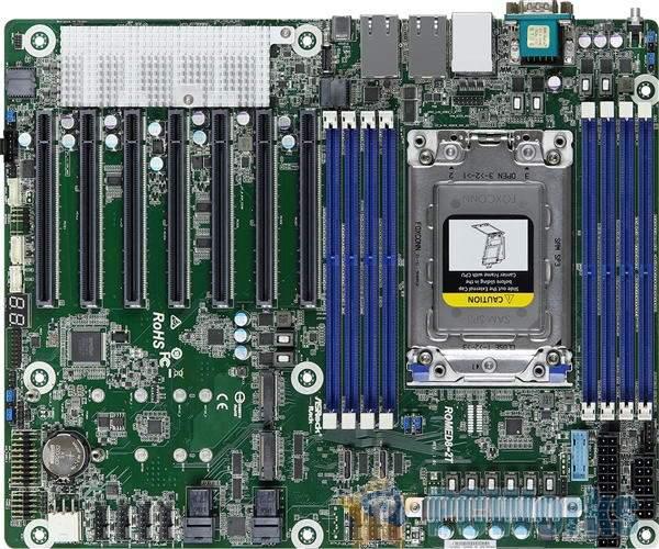华擎AMD霄龙妖板图赏:七条PCIe 4.0 x16