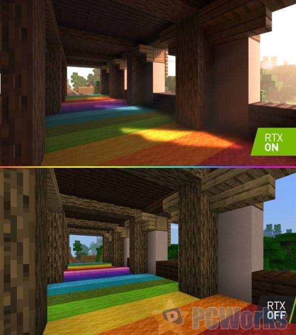NVIDIA 45分钟详尽展示Minecraft光追效果:叹为观止