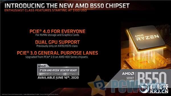 AMD B550芯片组揭秘:PCIe 4.0让千元主板媲美旗舰