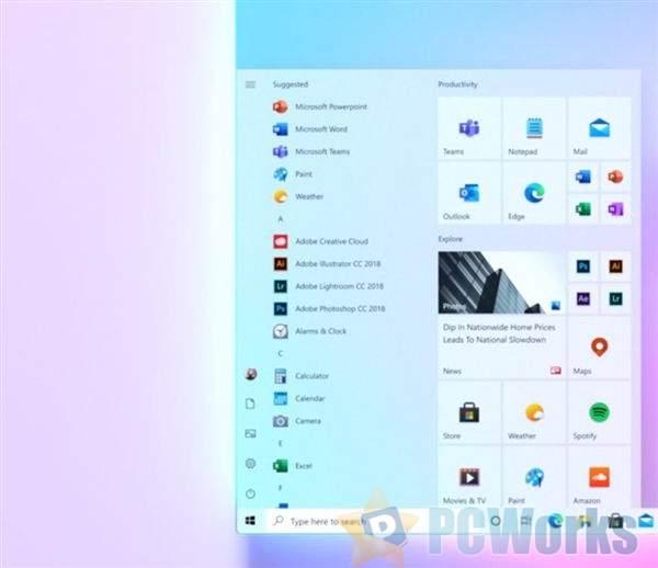 微软抢先晒Windows 10全新开始菜单:更简洁时尚