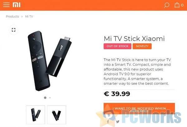 小米官网上架电视棒:U盘型盒子即插即用、海外定价约310元