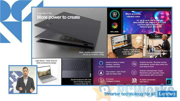 联想Yoga Slim 7系列曝光:Intel 11代酷睿配NVIDIA MX450独显